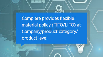 tenthplanet blog compiere Compiere provides flexible material policy FIFO LIFO at Company product category product level
