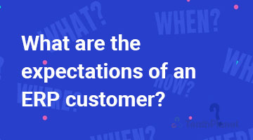 tenthplanet blog compiere What are the expectations of an ERP customer