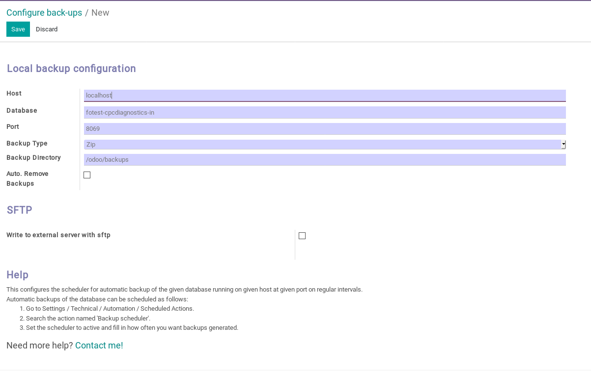 Odoo Auto Database Backup img1
