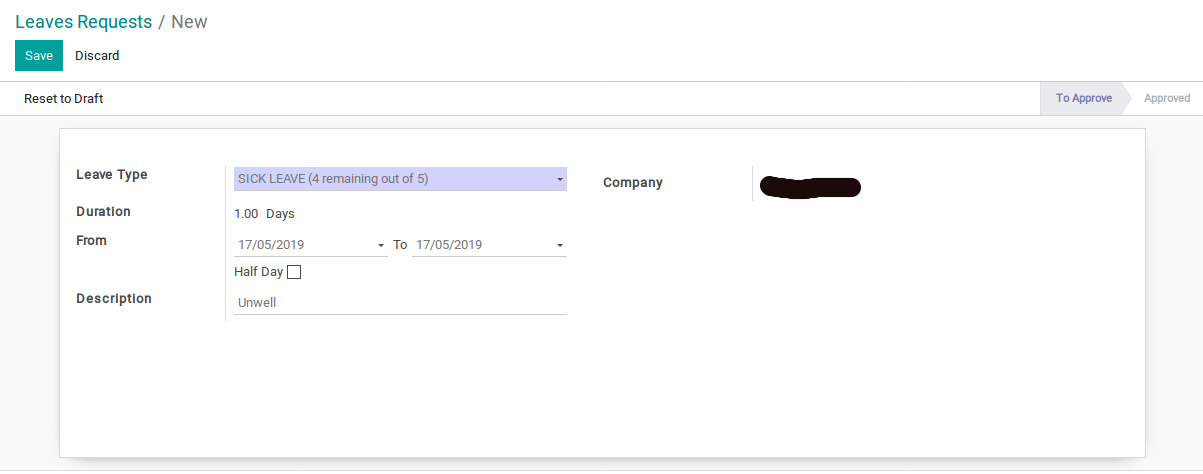 Odoo Leave Request img 2