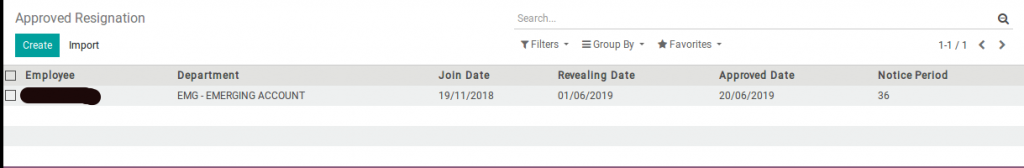 odoo approved resignation