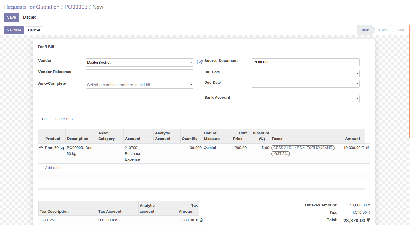 Odoo Purchase Management img15