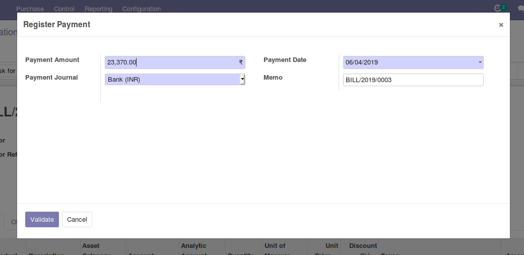 Odoo Purchase Management img16