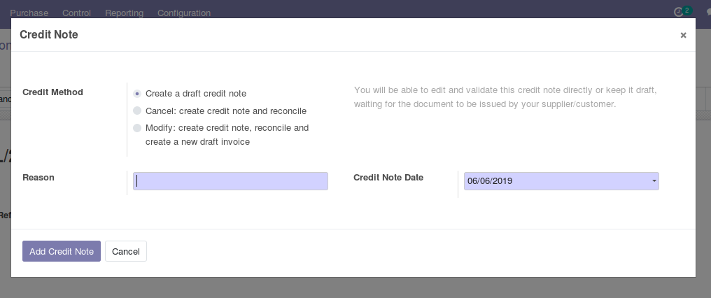 Odoo Purchase Management img19