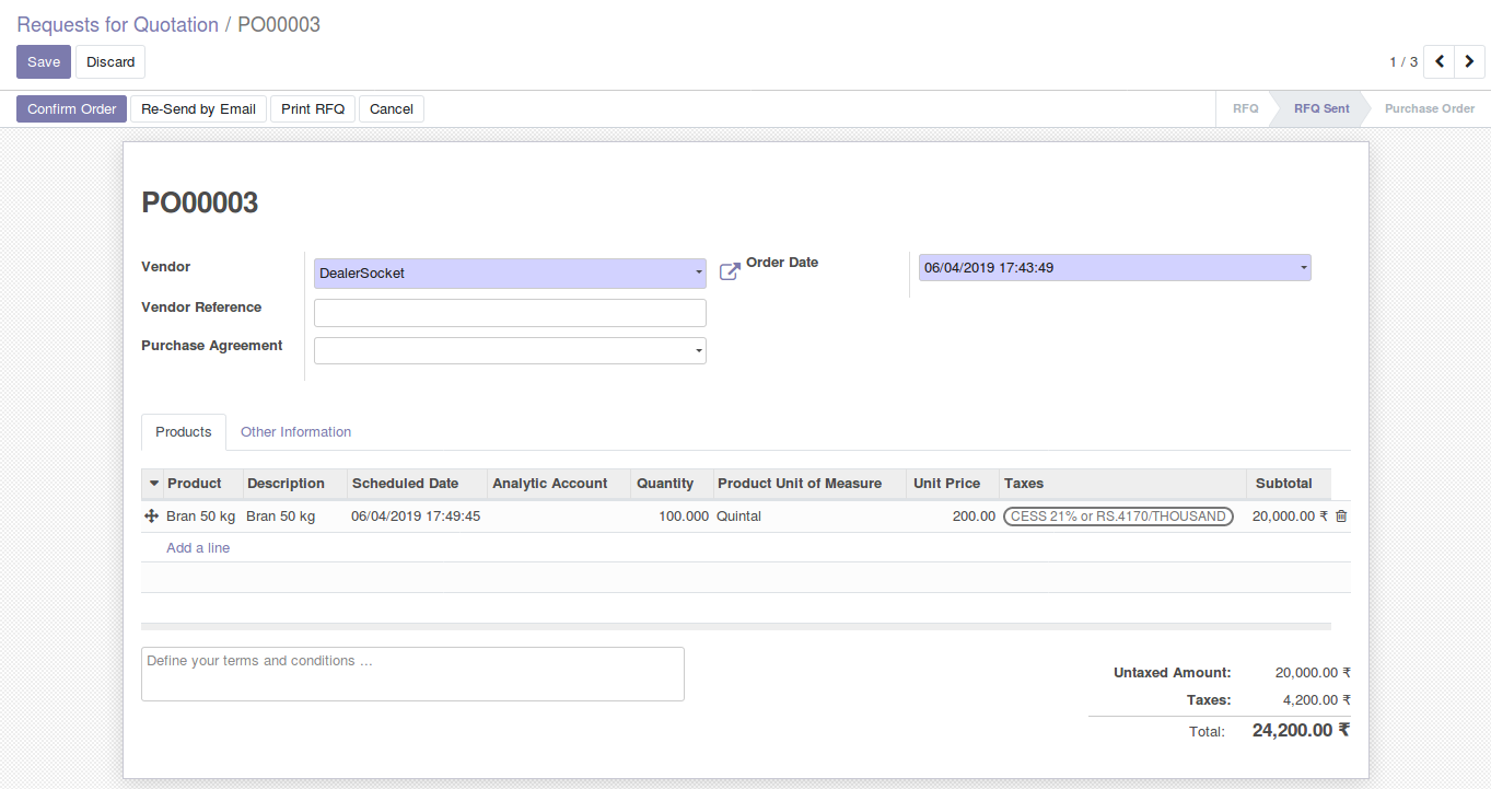 Odoo Purchase Management img4