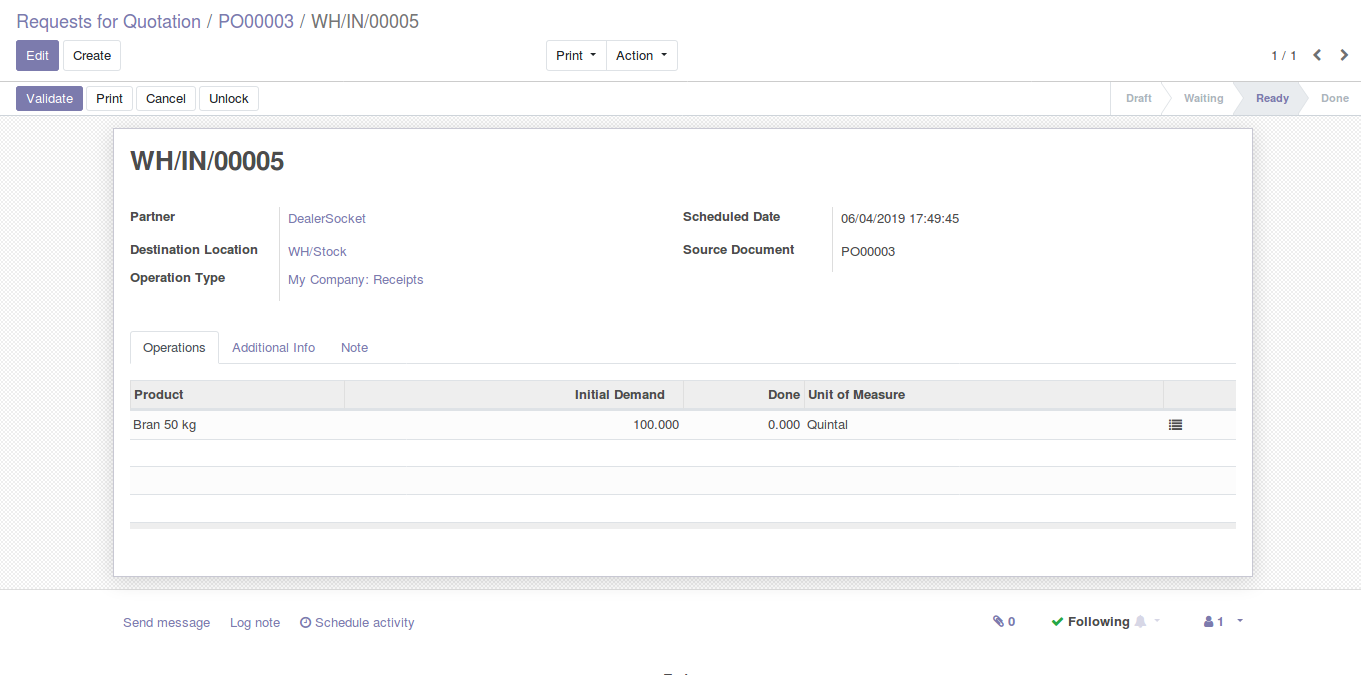 Odoo Purchase Management img6