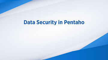 TENTHPLANET BIG DATA ANALYTICS BLOG web DATA SECURITY IN PENTAHO