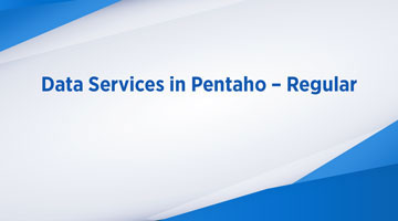 TENTHPLANET BIG DATA ANALYTICS BLOG web Data Services in Pentaho Regular