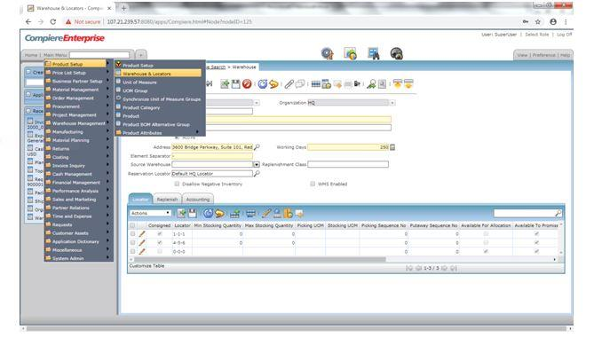 Compiere_ERP_Training_Main_Menu2